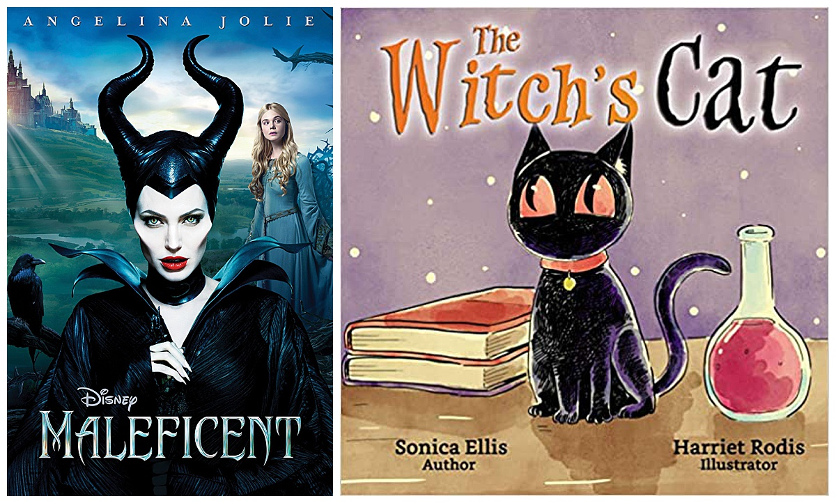 Maleficent movie and The Witch's Cat book