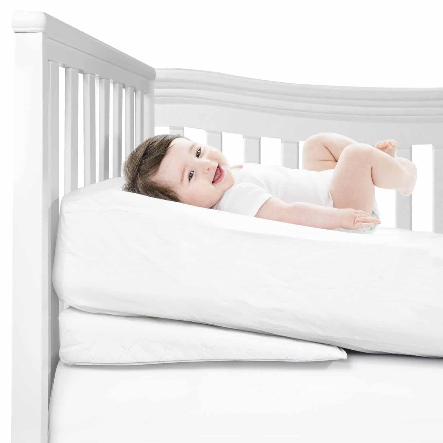 comfy rise deluxe crib wedge bright white