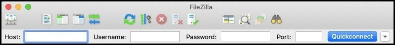 filezilla ftp credentials