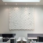 Hanging Room Divider Facet 306 X 265cm In White Bloomming