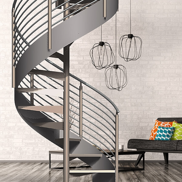 Classic Spiral Stair Kit Erectastep | 9 Ft Spiral Staircase | Lowes | Toronto V3 | Lowes Com | Wood Treads | Basement Stairs