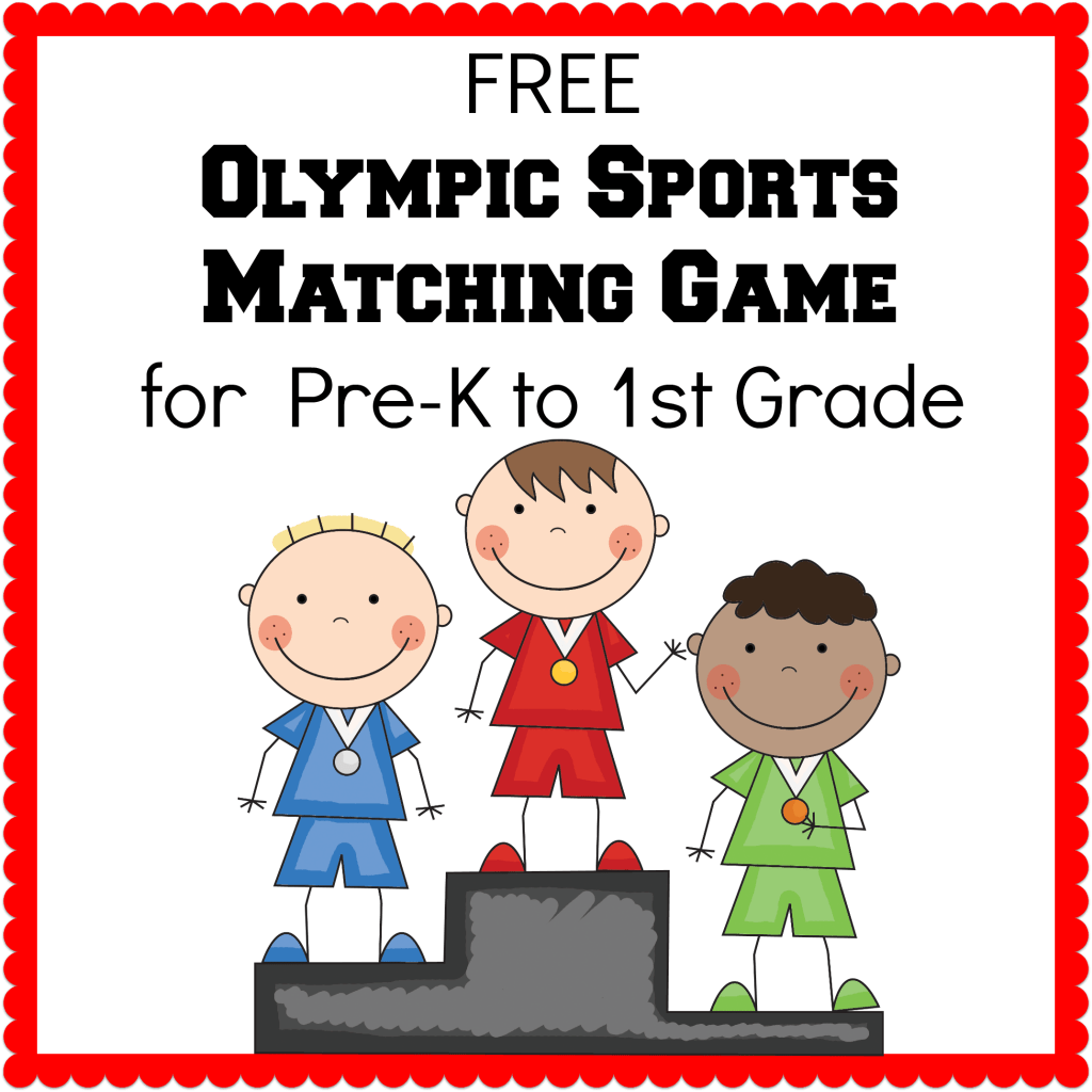 Winter Olympics Printables Olympic Sport Matching Game Wall Words