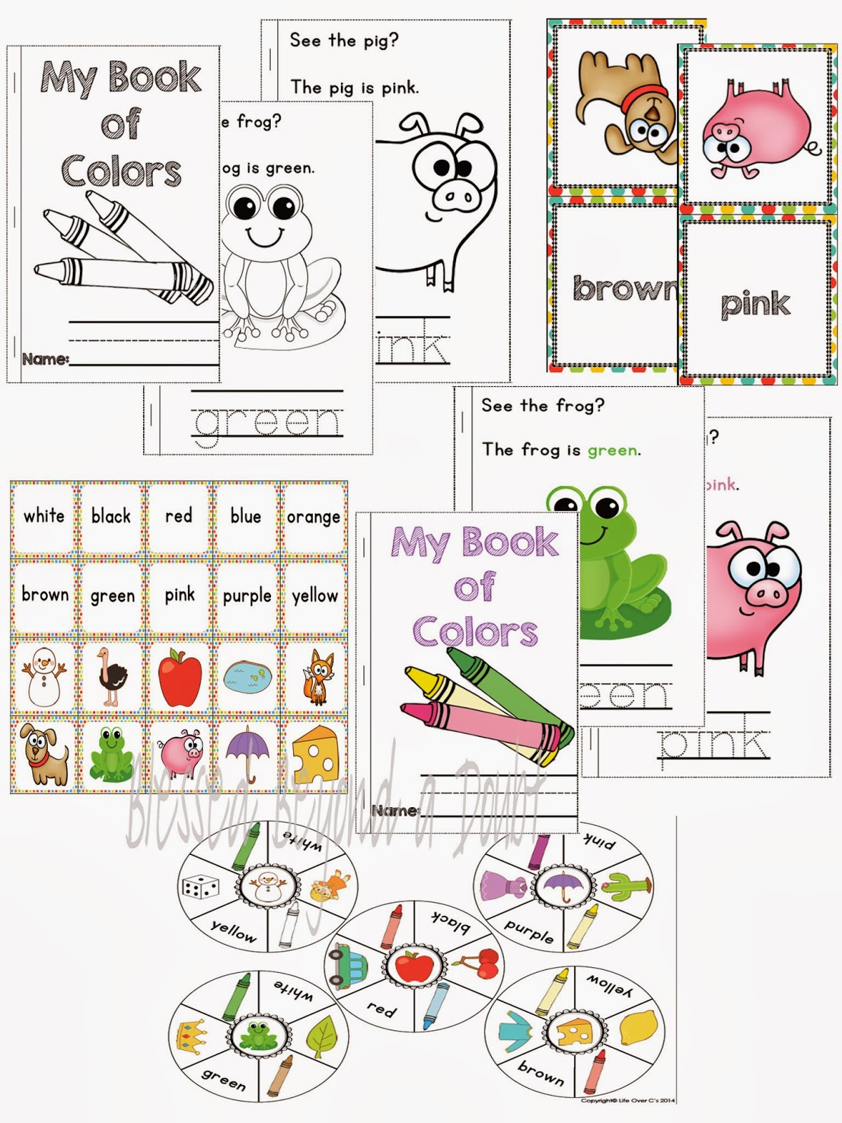Free Kindergarten Color Recognition Printables Pack