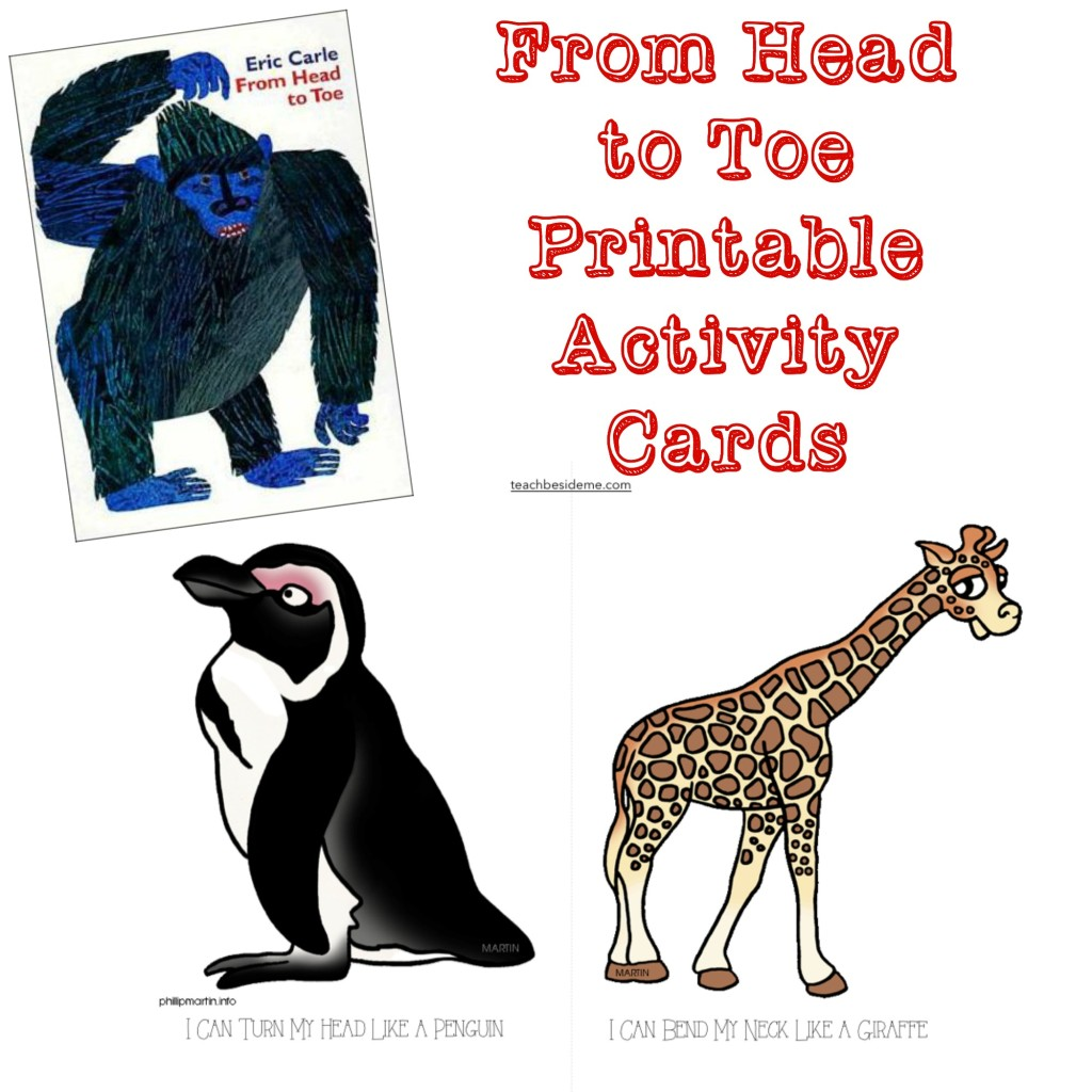 From Head To Toe Free Printable Cards