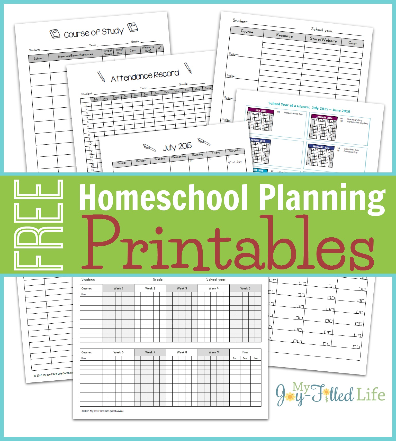 Free Homeschool Planning Printables 16