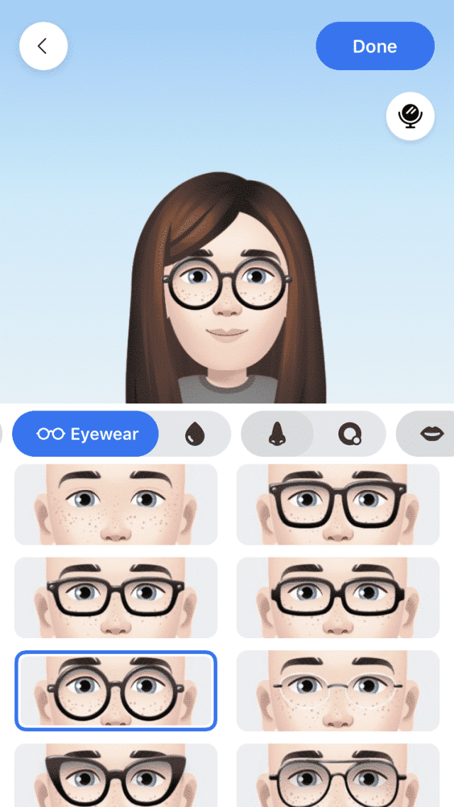 Facebook customized avatar stickers