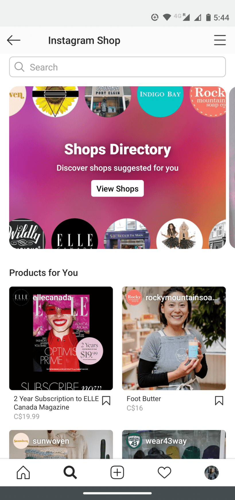 Shops Directory
