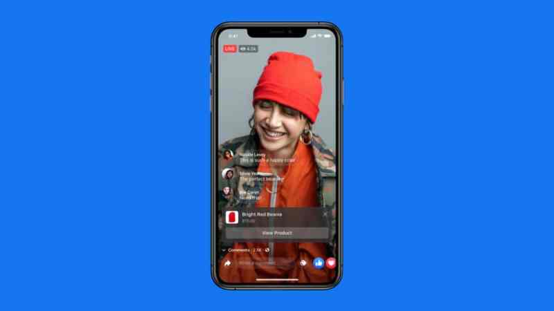 Instagram Live Shopping red beanie