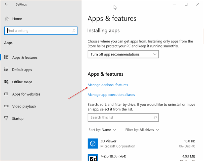 Reduce reserved storage size in Windows 10 pic1