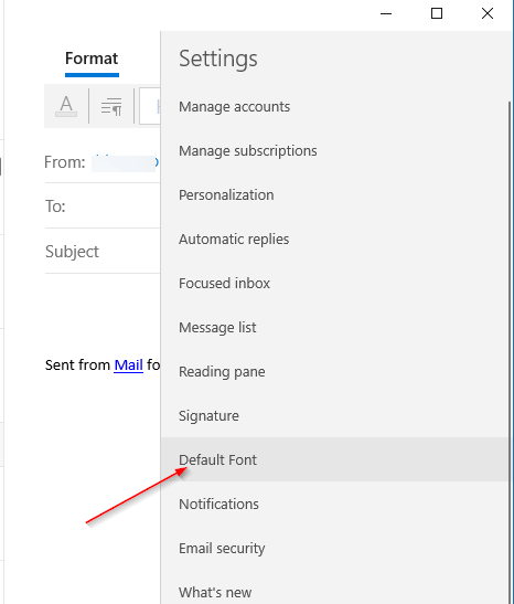 How To Change The Default Font In Mail App In Windows 10