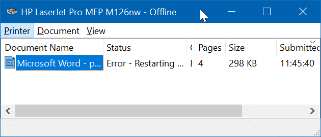 Printer Offline In Windows 10 – | ALLSTAR |