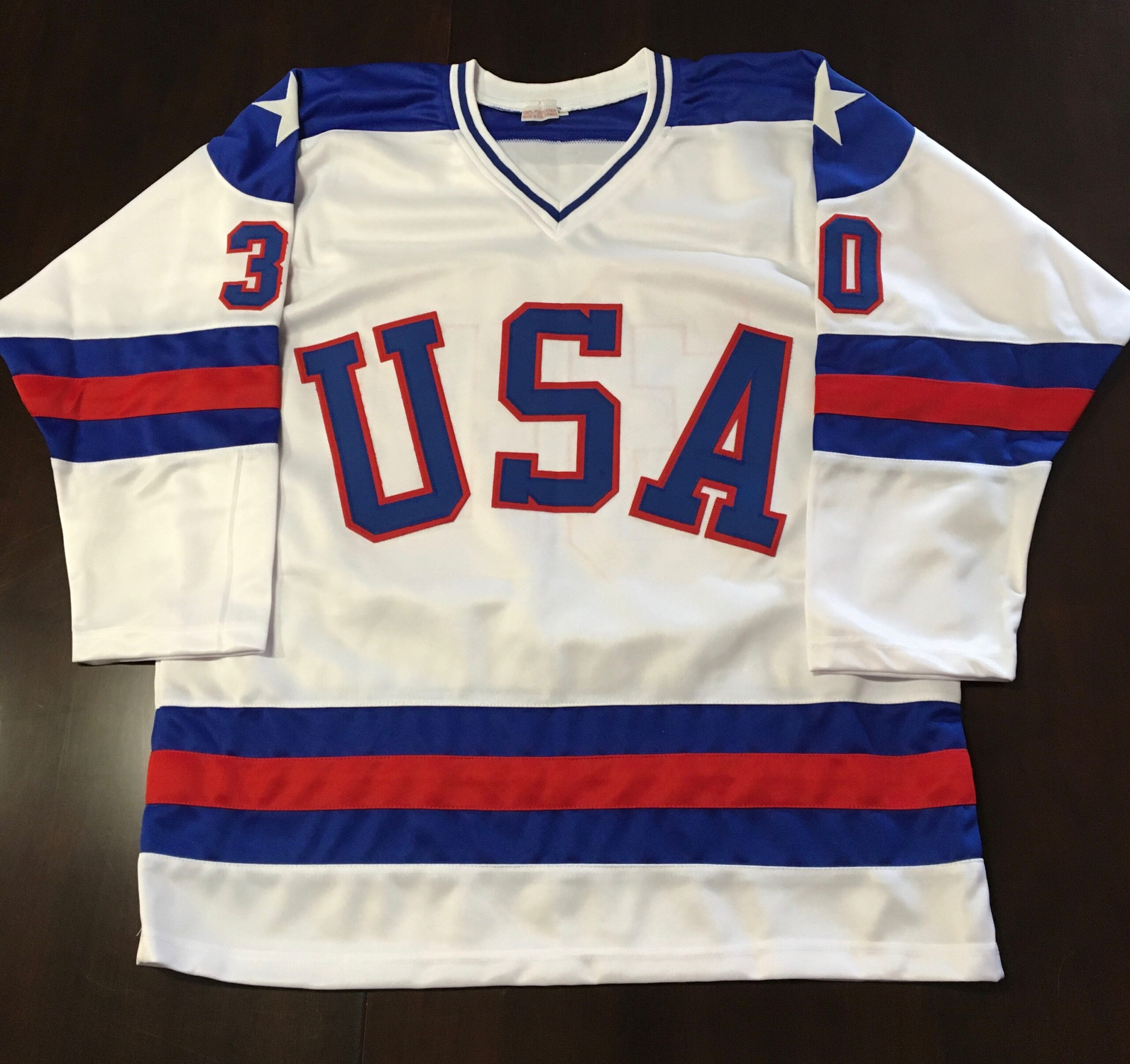 Usa Olympic Hockey Team Autographed Custom Jim Craig
