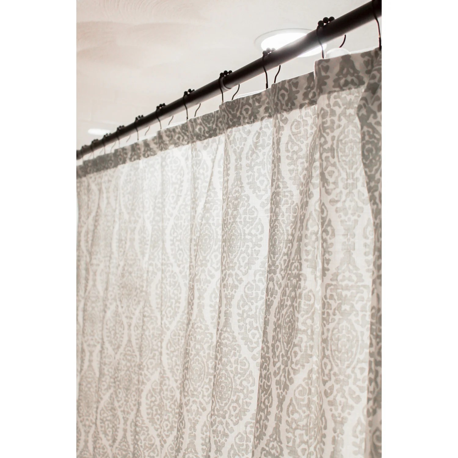 Kingston Brass Srk605 Americana 72 Adjustable Stainless Steel Shower Curtain Rod With Ring Combo Oil Rubbed Bronze