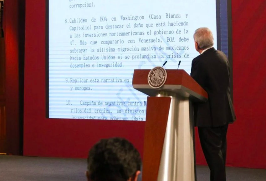 Amlo Unveils Confidential Document Outlining Plans For Anti