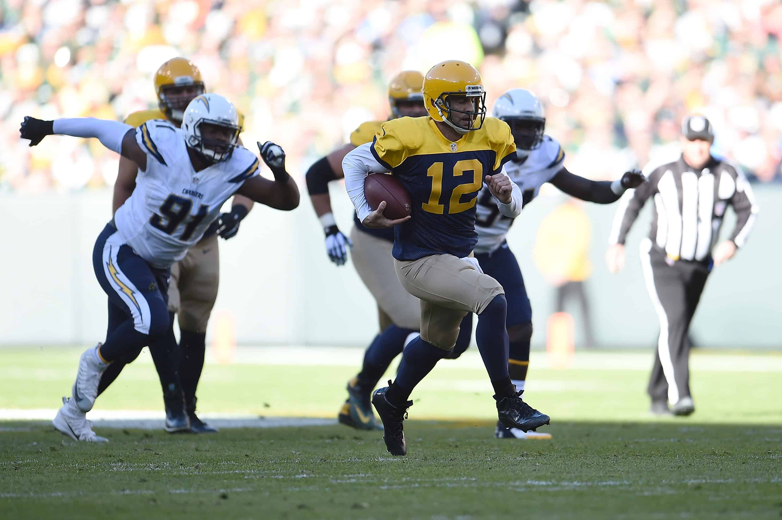 Packers Vs Chargers Fantasy Football Worksheet Week 9