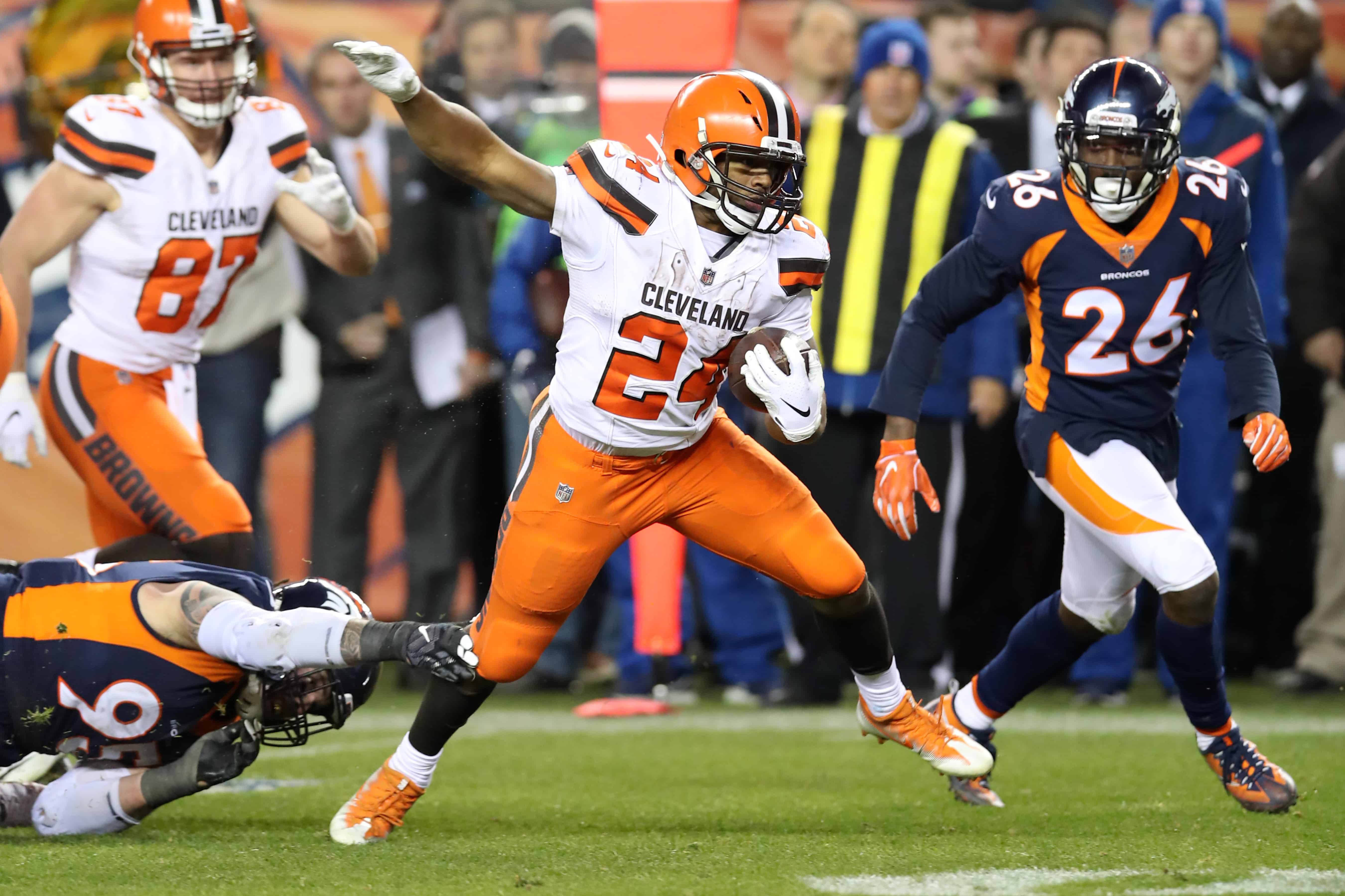 Browns Vs Broncos Fantasy Football Worksheet Week 9