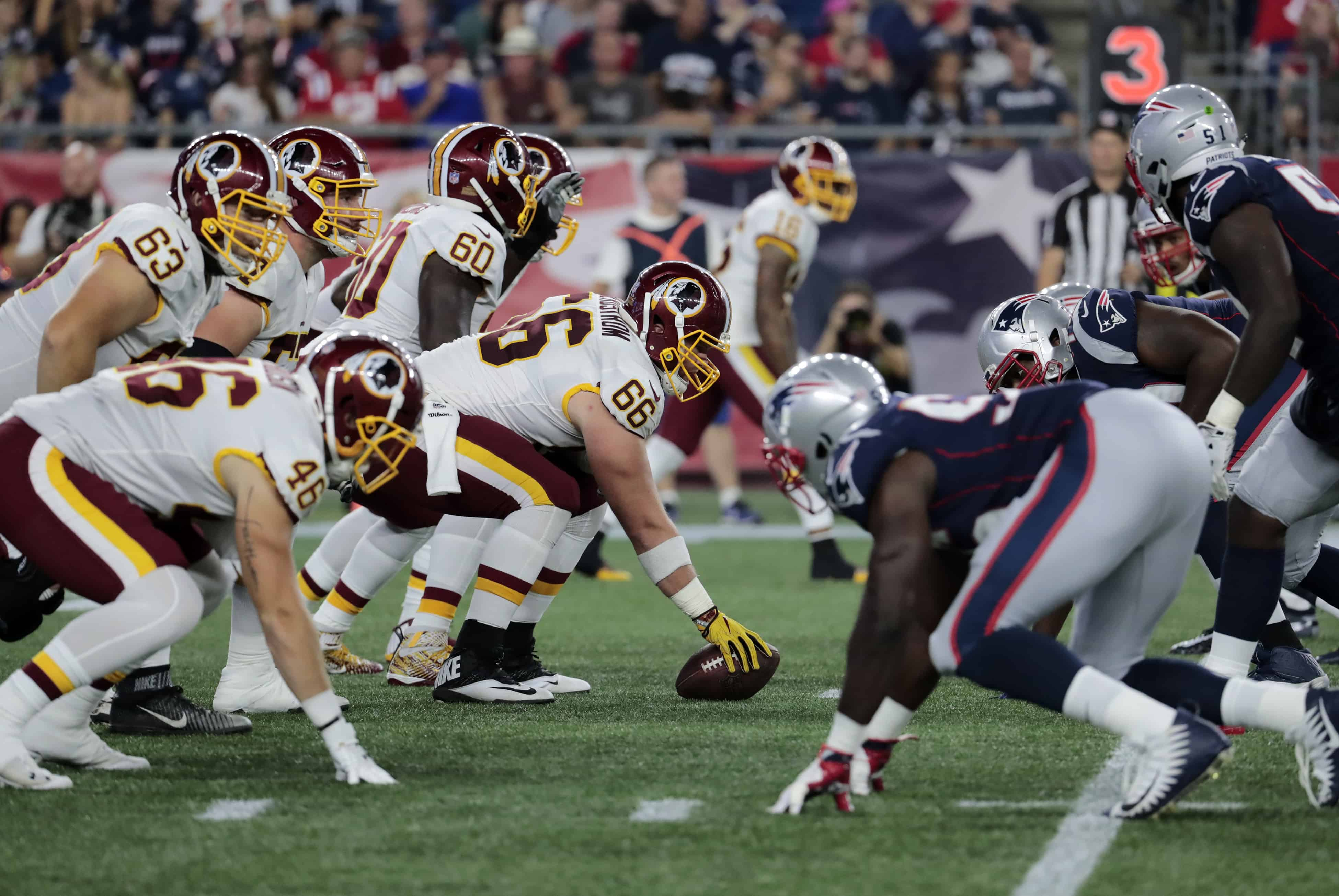 Patriots Vs Redskins Fantasy Football Worksheet Week 5
