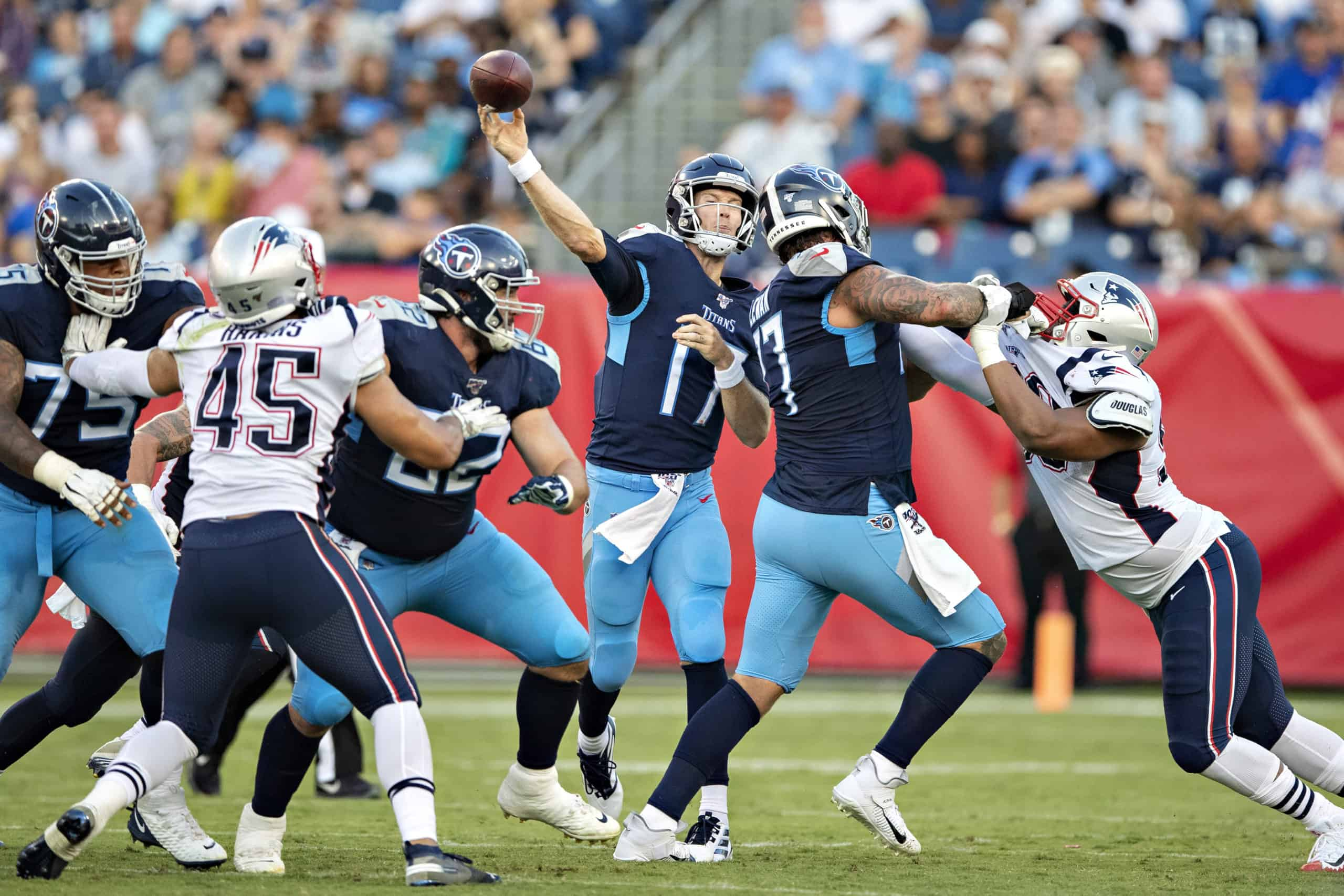 Titans Vs Patriots Fantasy Football Worksheet Wild Card