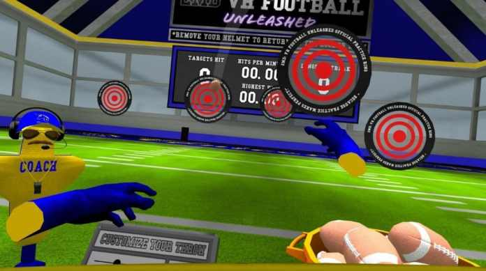 2md vr football quest screenshot gameplay 2