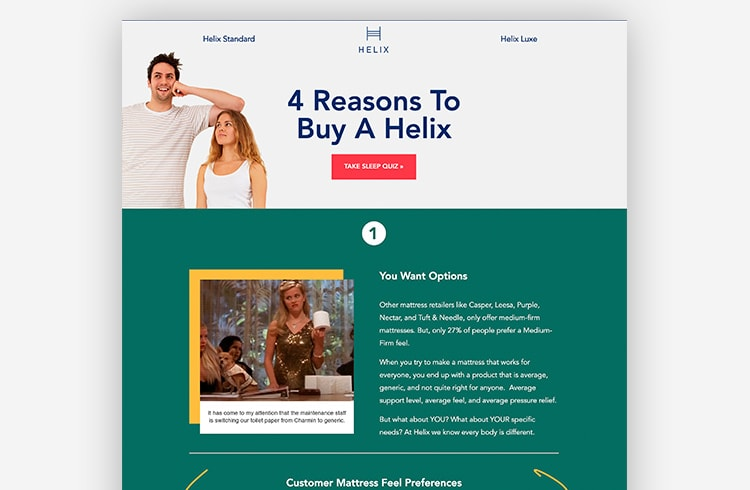 Smart Traffic Landing Page Variant - Helix