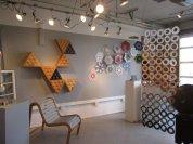 The yogurt lids were actually quilt tiles by Cheri Kopp.