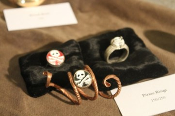 These pirate rings are beautiful in person.