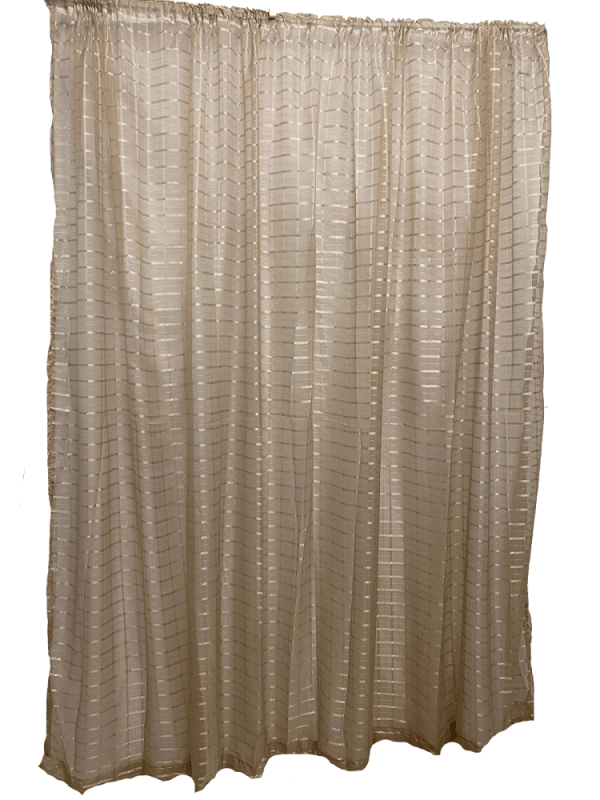 Taped Lace Curtain Beige