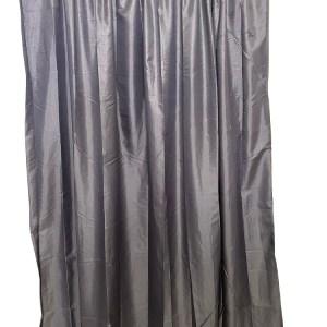 Lined Tafetta Curtain Grey