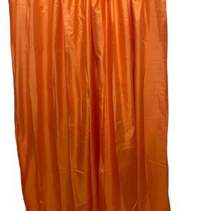 Lined Tafetta Curtain Orange