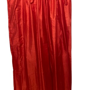 Lined Tafetta Curtain Red