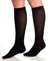 Stödstrumpor-bomull-svart-q90