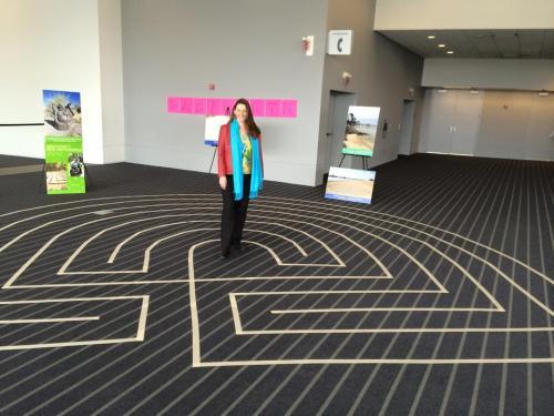 Dorit Brauer in her Labyrinth