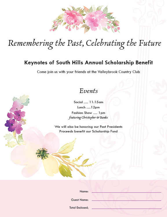 Keynotes Luncheon Invitation