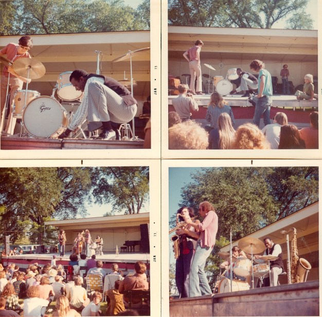 Elvin Jones Quartet - Lakefront Festival of the Arts 1972, photo via Kevin Lynch