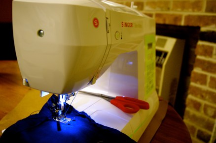Scissor, Machine and Sewing.
