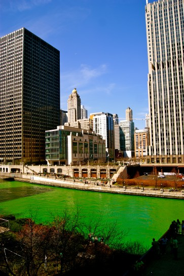 The St Patrick's Day Green River!