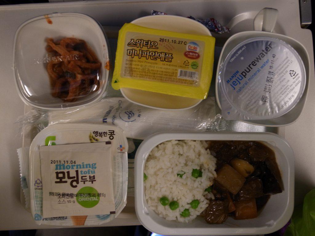 大韓航空 復路機内食