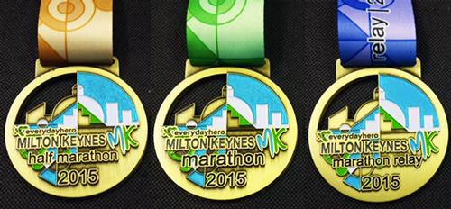 The MK Half Marathon, Marathon and Marathon Relay medals 2015