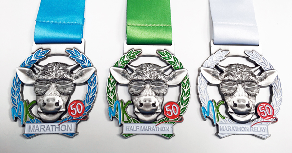 The MK Marathon medals are cool!