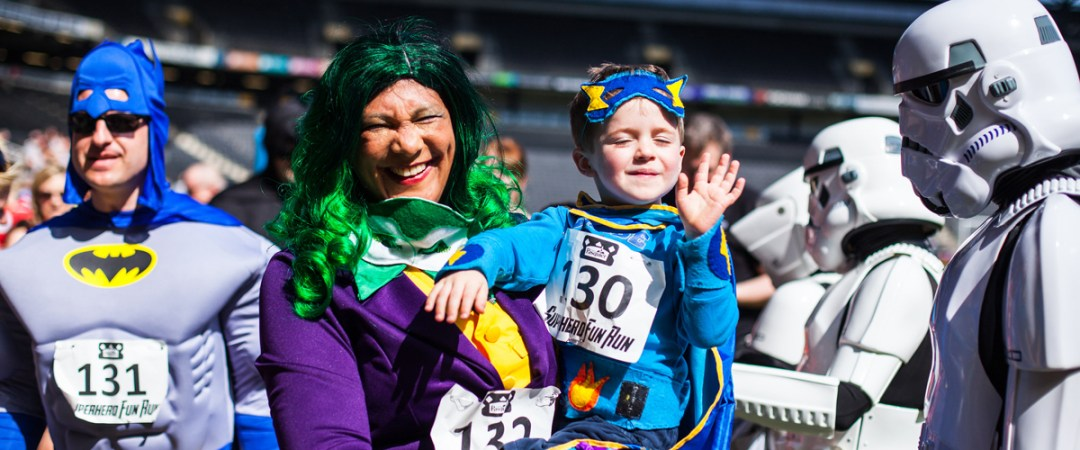 Superhero Fun Run early May bank Holiday Milton Keynes