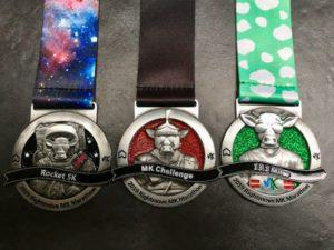 Run the MK Rocket 5k and MK Half Marathon and gain the MK Challenge Medal