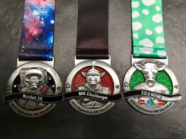 Run the MK Rocket 5k and MK Half Marathon and gain the MK Challenge Medal