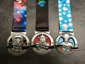 Run the MK Rocket 5k and MK Marathon and gain the MK Challenge Medal