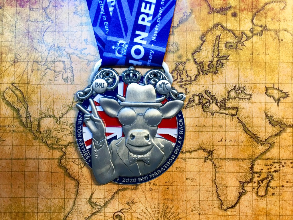 BMI MK Marathon Relay Medal 3rd May 2020 - VE Day 75 inspired!