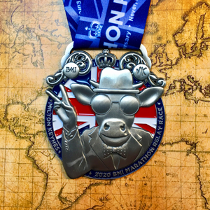 BMI MK Marathon Relay - VE 75th Anniversary Themed Medal