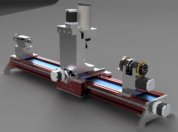 CNC Cue Lathe   3D CAD Model Library   GrabCAD