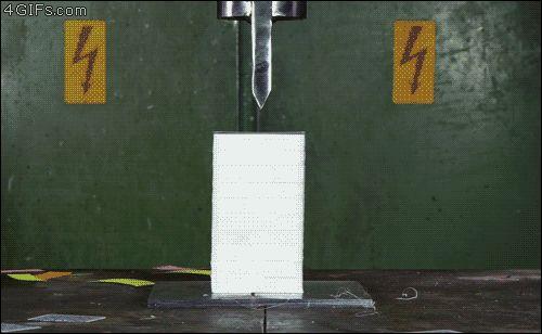 hydraulic press - via GIPHY
