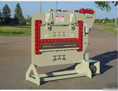 50″ iroquois press brake, 100TON, usa job shop package
