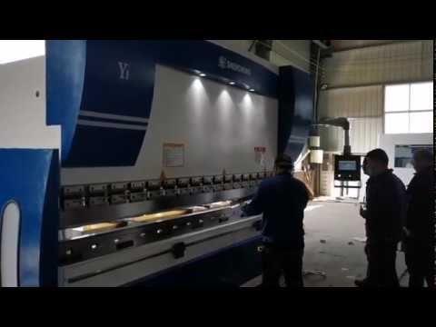 CNC Hydraulic Press Brake Machine 160ton 4000mm 4+1axis metal bend video