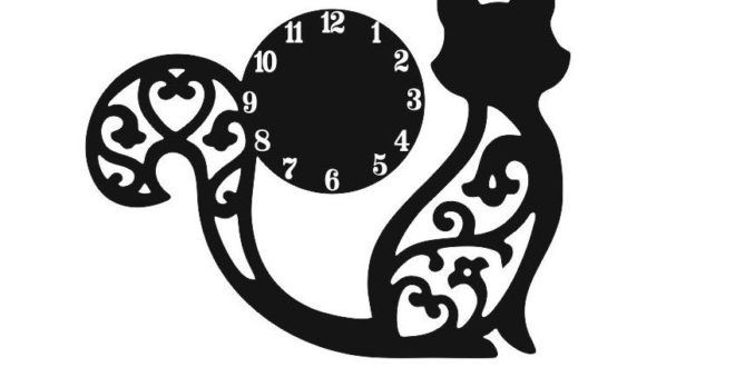 Free DXF Laser Cnc Cut Watches with a sculpted kitten - DXF DOWNLOADS - Files for Laser Cutting and CNC Router ArtCAM DXF Vectric Aspire VCarve MDF Crafts Woodworking
